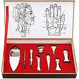 KISENG 9ピース Gua Shaこすり ボディマニュアルマッサージャー 理学療法 ステンレス鋼銅 マッサージツールセット