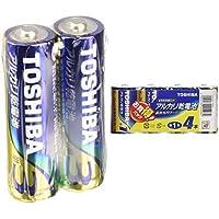 東芝 アルカリ乾電池 単3形1パック100本入  LR6L100P & アルカリ乾電池 単1形1パック4本入  LR20L 4MP