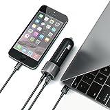 Satechi 48W 車載アダプター USB-Cポート搭載 カーチャージャー (対応: Apple Macbook 12インチ/MacBook Pro 2016, LG G5, Nexus 5X/6P, HTC 10など) (スペースグレイ)