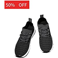 EZUOGO Men's Knit Breathable Casual Sneakers Lightweight Athletic Tennis Walking Running Shoes