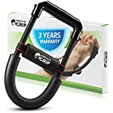 Hand Wrist and Forearm Strengthener Grip Workout Equipment - Heavy Duty Carbon Steel Spring Wide Design & Non-Slip Cushion Increase Muscle Strength Reduce Pain & Speed up Recovery -3 Years Warranty