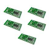 電子太郎 5個セット マイクロ波レーダーセンサーRCWL-0516スイッチモジュールヒューマンインダクションボード検出器