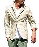 (ジョーカーセレクト(JOKER Select) テーラードジャケット 綿 麻 イタリアンカラー M ベージュ(54)