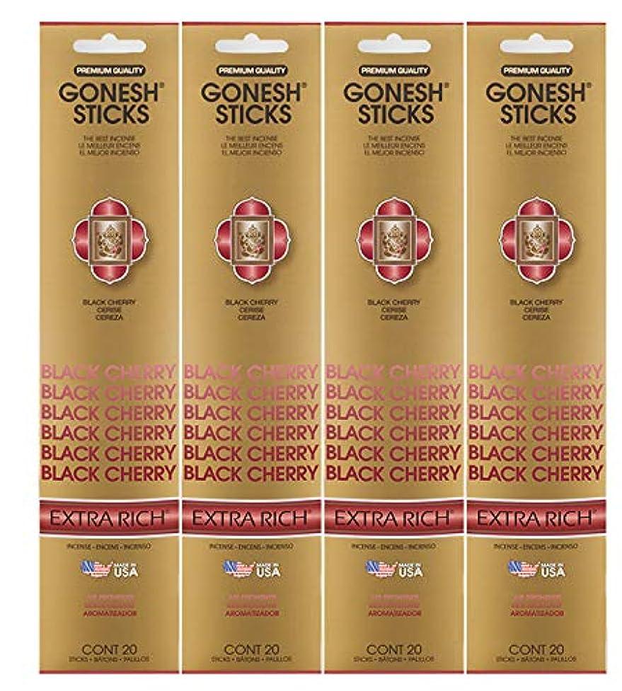 受取人ポーズ補助金Gonesh ~ Incense Sticks ~ Pack of 4 ~ Black Cherry by Gonesh [並行輸入品]