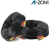 A-ZONE 同軸ケーブル 2本 50m 黒色 両端未加工