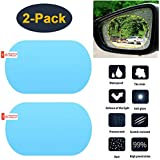 HEYUS [2 Pack] Car Rearview Mirror/Side Window Rainproof Film, Anti-Water/Anti-Fog/Anti-Glare/Anti-Scratch Mirror Protective Film for Car/Motorbike/Bus, Waterproof Rearview Mirror Clear Film