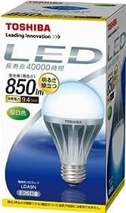 TOSHIBA E-CORE(イー・コア) LED電球(口金直径26mm・一般電球形9.4W 白熱電球60W相当 850ルーメン・昼白色) LDA9N
