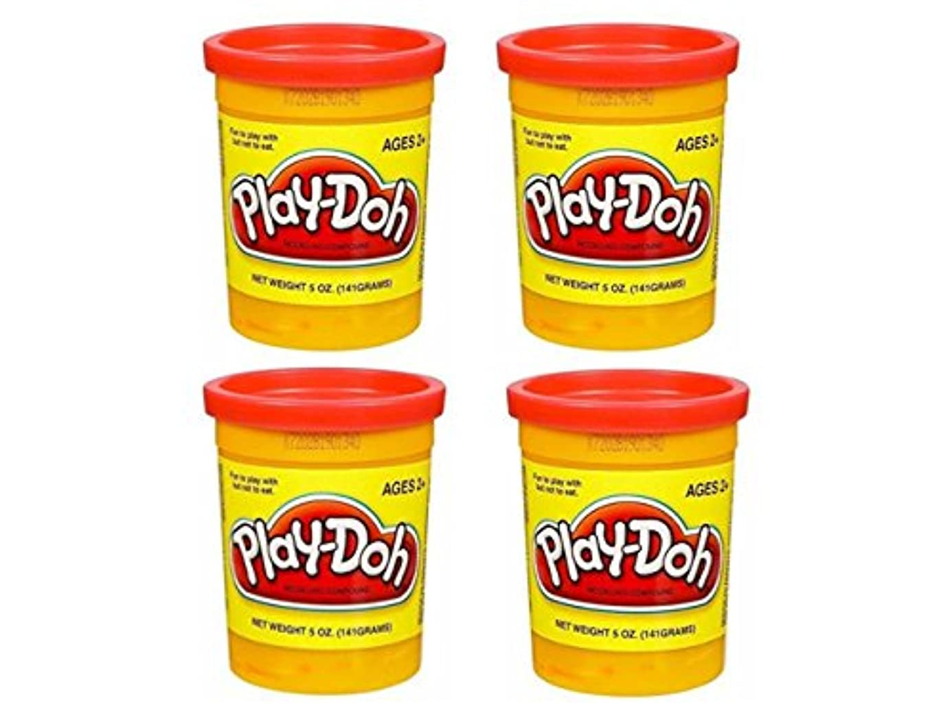 ( 4パック)明るい赤play-doh 5オンス合計20オンス&アクセサリー