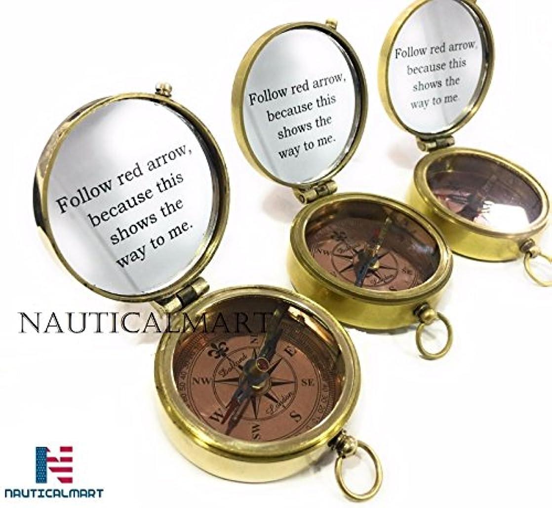 創傷積極的に本質的ではないNAUTICALMART真鍮コンパスEngraved to show the way to you. Marineギフト