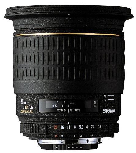 SIGMA 単焦点広角レンズ 20mm F1.8 EX DG ASPHERICAL RF シグマ用 フルサイズ対応
