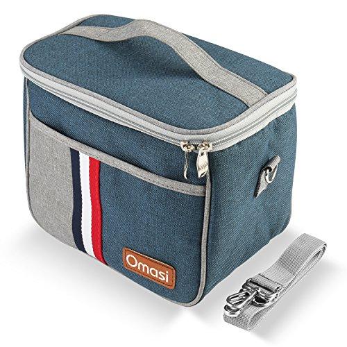 OMASI 保温バッグ ランチバッグ お弁当 保冷バッグ クーラーバック 5.6L お弁当袋 (绀 )