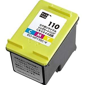 エコリカ HP対応 リサイクル インクカートリッジ 3色カラー CB304AA ECI-HP対応 リサイクル インクカートリッジ110C-V