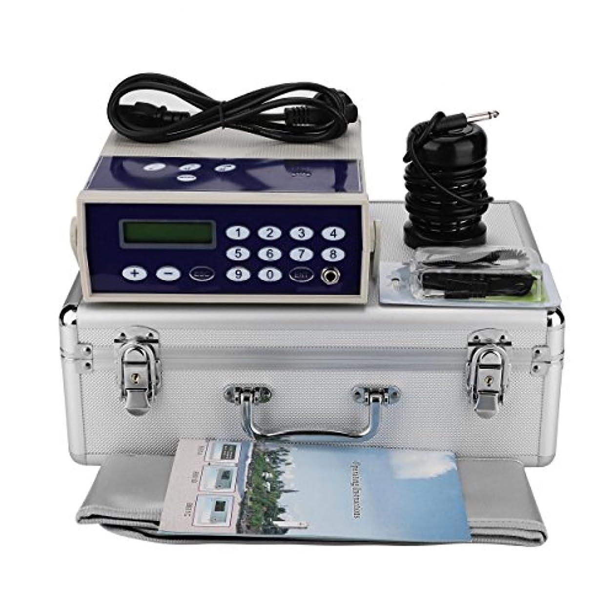 エンコミウム国際発疹イオンフットバスデトックスマシン、プロフェッショナルイオンイオンアレイボディデトックスマシンスパ赤外線腰ベルトで浄化(110-220V)