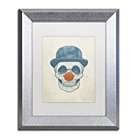 商標FineアートDead Clown by Balazs Soltiアートワーク 11x14 シルバー ALI1370-S1114MF