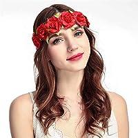 ダイヤモンドベルベット人工ローズヘアバンド、海辺の休日のヘアアクセサリー、花嫁や花嫁介添人のヘッドドレス、写真の花輪