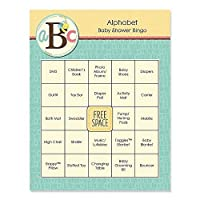 A is for Alphabet - Baby Shower Game Bingo Cards - 16 Count [並行輸入品]