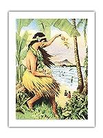 1915ミッドパシフィック・カーニバル - ホノルル、ハワイ - ポスターの詳細 - ビンテージなカーニバルのポスター c.1915 - アートポスター - 46cm x 61cm