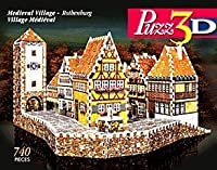 puzz3d Wrebbit Medieval Villageローテンブルクdifficultパズル740ピースby Wrebbit