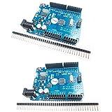 HiLetgo UNO R3 ATMEGA328P-16AU CH340G マイクロUSB Arduinoと互換 ( 2個セット) [並行輸入品]