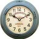 ビンテージ ウォールクロック ケンシントン アンティーク ガレージ ブリキ時計 壁掛け時計 時計