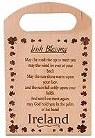 木製Chopping Board with Irish Blessing Small