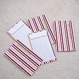 いせ辰 ポチ袋三つ折り 5枚セット (縦縞A)