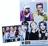 BIGBANG ビッグバン 大判 壁掛け カレンダー 2017年 (平成29年) + 卓上カレンダー + メッセージカード [3点セット]