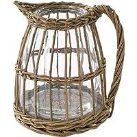 SPICE OF LIFE 花瓶 かご編み フラワーベース ピッチャー 15×16.5×18cm LYGN1030