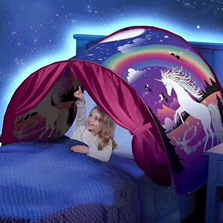 折りたたみ式Galaxy Starry Sky Dream Pop Upテント子供ベッドテントPlayhouse、素晴らしい贈り物for Children ( h05 )