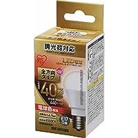 アイリスオーヤマ LED電球 E17 全配光タイプ 調光器対応 40W形相当 電球色 2個セット LDA5L-G-E17/W/D-4V1