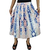 Womens Maxi Skirt Polyster Crepe Printed Peasant Flared Flirty Summer Style Midi Skirts