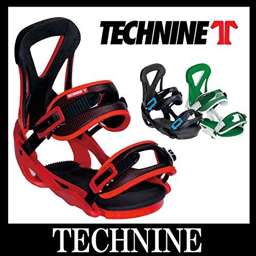 14-15 TECHNINE / テックナイン THE CLASSIC メンズ ビンディング バインディング スノーボード M(25.0~27.5cm) WHITE/GREEN