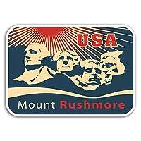 2×10センチメートルラシュモア山USAビニールステッカー - ステッカー荷物トラベルギフト#19253(10センチメートルワイド)