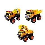 (アルジーユ)ALZEU ショベルカー ミキサー車 ダンプカー 箱入り 砂場 車 おもちゃ 子供用 遊び 工事 車両 働く車 シリーズ (ミキサー車 小型)