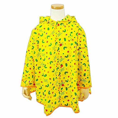はらぺこあおむし キッズ・ジュニア レインポンチョ 黄色 (120cm)