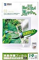 サンワサプライ 液晶保護フィルム LCD-190W