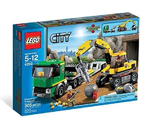 レゴ (LEGO) シティ ゴールドマイナー パワーショベルとトレーラー 4203