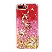 2a952f57c3 iphone アイフォン ケース レディース 女性 月 星 クリア グリッターケース iPhone7/8 ピンク