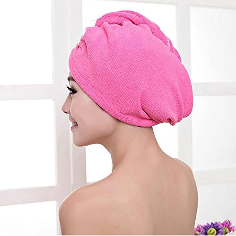 枕複数中ボコダダ(Vocodada)タオルキャップ ヘアキャップ 吸水 ヘアドライタオル 速乾 マイクロファイバー ヘア 乾燥 タオル 帽子 キャップ 風呂 ふわふわ シンプル 60cm x 25cm. (E)