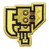 モンスターハンターライズ 2way刺繍ワッペン<スラッシュアックス> 【オフィシャルライセンス商品】 グラフト ゲーミングライフ GGL045 イエロー