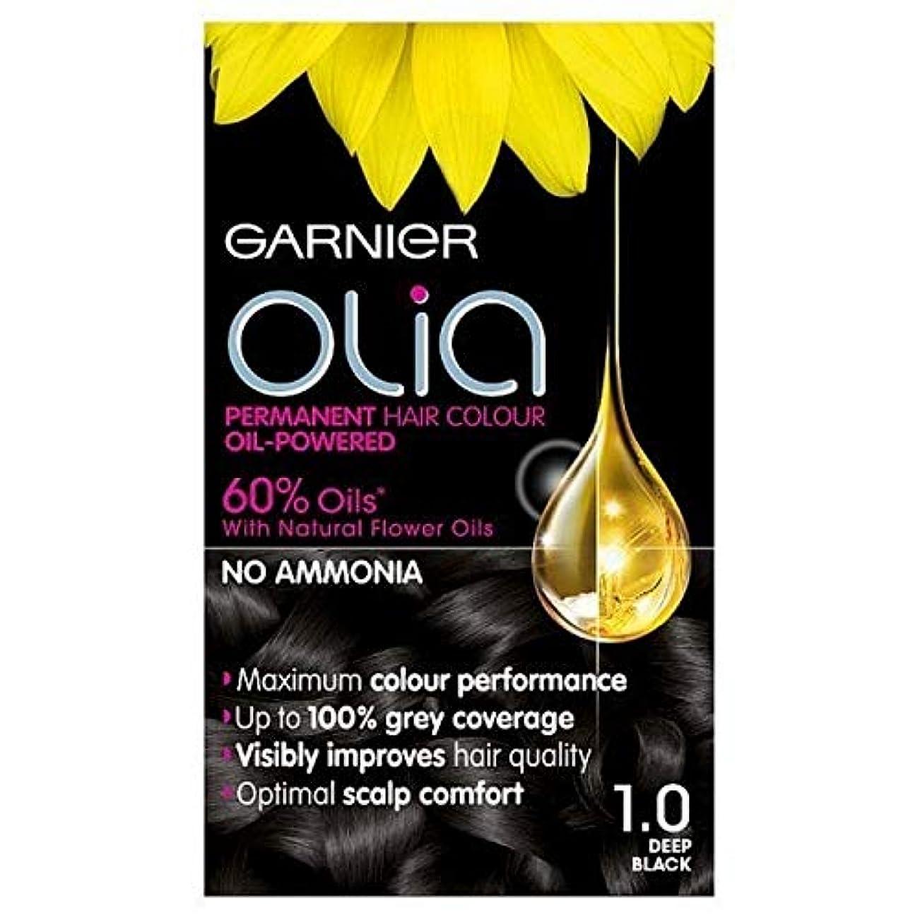 呼びかけるどういたしまして説得[Garnier ] ガルニエOlia永久染毛剤深い黒1.0 - Garnier Olia Permanent Hair Dye Deep Black 1.0 [並行輸入品]