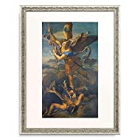 ラファエロ・サンティ Raffaello Sanzio Raffaello Santi 「Der hl. Michael besiegt den Teufel. 1518.」 額装アート作品