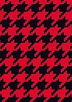 ポスター ウォールステッカー シール式ステッカー 飾り 257×364㎜ B4 写真 フォト 壁 インテリア おしゃれ 剥がせる wall sticker poster pb4wsxxxxx-012434-ds 千鳥 柄 赤