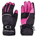 Wantdo レディース スキーグローブ 防水 防寒 防風 ウィンタースポーツ 登山 暖かい 手袋 裏起毛 防水 ブラック  S