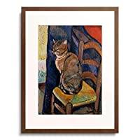Valadon, Suzanne 「Study of a cat sitting on a chair.」 額装アート作品