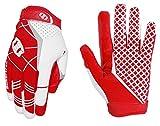 (サイバトロン)Seibertron Pro3.0 アメリカンフットボール グローブ ラグビー アメフト グローブ エリート ウルトラスティックスポーツレシーバー 青年用 大人用 スポーツグローブ (赤, XS)