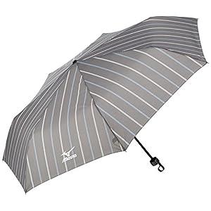 (ムーンバット)MOONBAT(ムーンバット) (ミズノ)MIZUNO 紳士折りたたみ傘 2カラーストライプ 21-015-83871-05 13-60 ダークグレー 親骨の長さ60cm