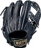 ZETT(ゼット) 軟式野球 プロステイタス グラブ (グローブ) 新軟式ボール対応 セカンド・ショート用 ブラック(1900) 右投げ用 BRGB30940