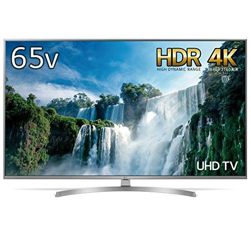 LG 65V型 4K 液晶テレビ エッジ型LED TruNano® Display IPSパネル 4倍速相当 外付けHDD録画対応(裏番組録画) Wi-Fi対応 1ウェイ2スピーカー 20W 65UK7500PJA