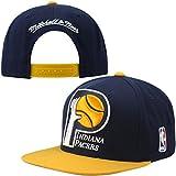 MITCHELL&NESS(ミッチェル&ネス)Indiana Pacers big logoデザインスナップバックキャップ (フリー, 紺/黄色) [並行輸入品]